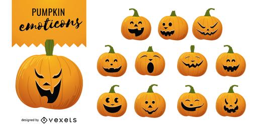 Halloween Vector Pumpkins 2