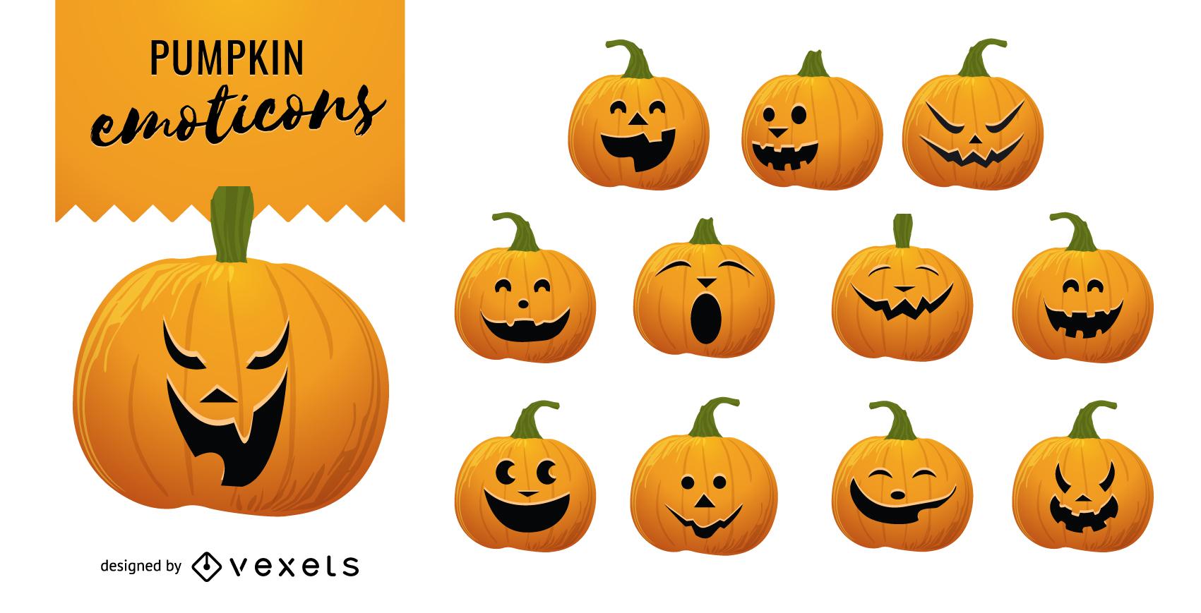 Calabazas de Halloween Vector 2