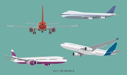 Aircraft Flat Design Set