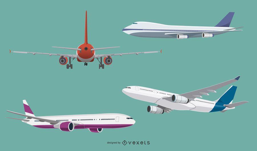 Aircraft illustration set