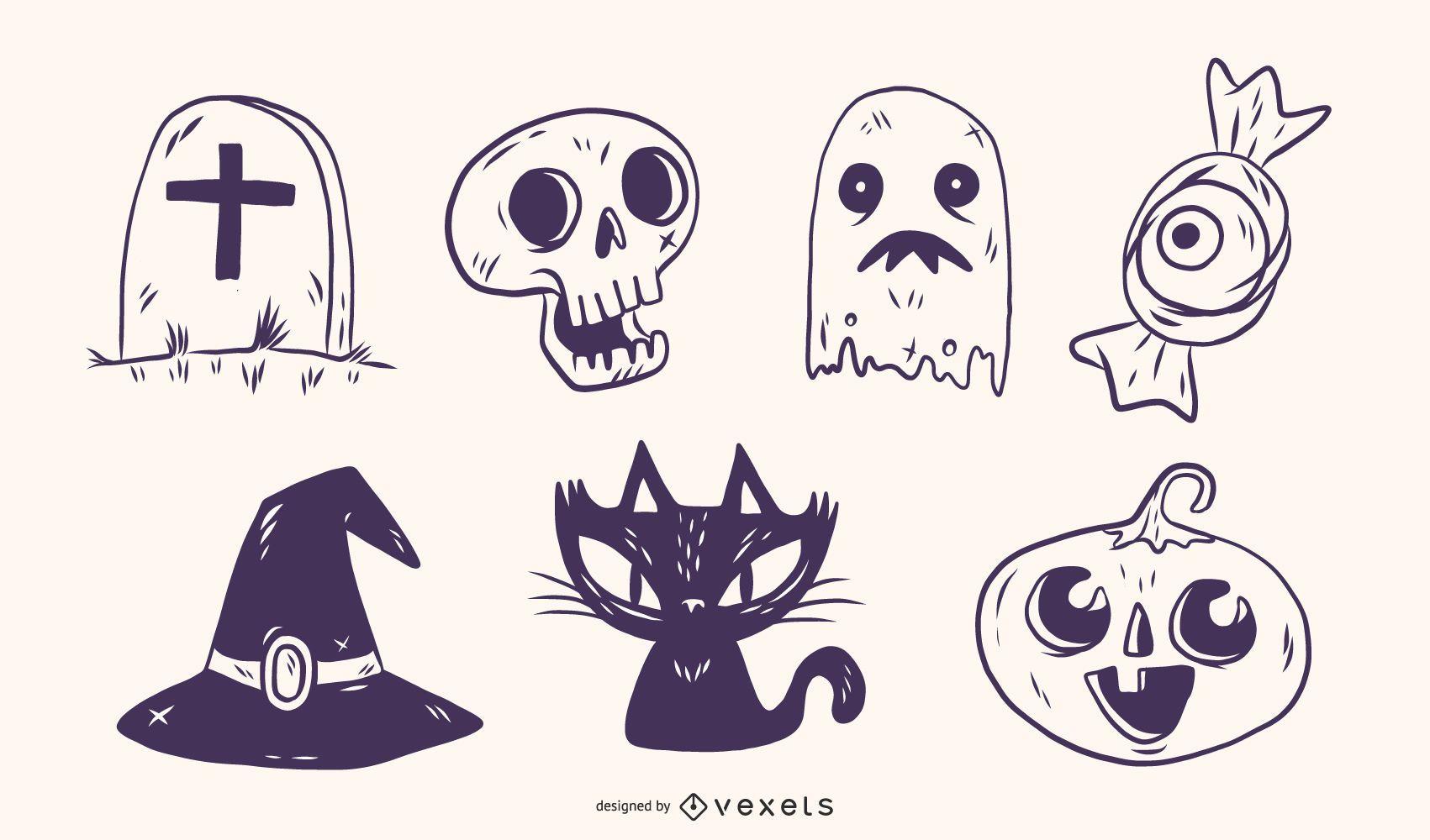 Hand-drawn Halloween illustrations