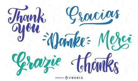 Sagen Sie Dank-Text-Plakat