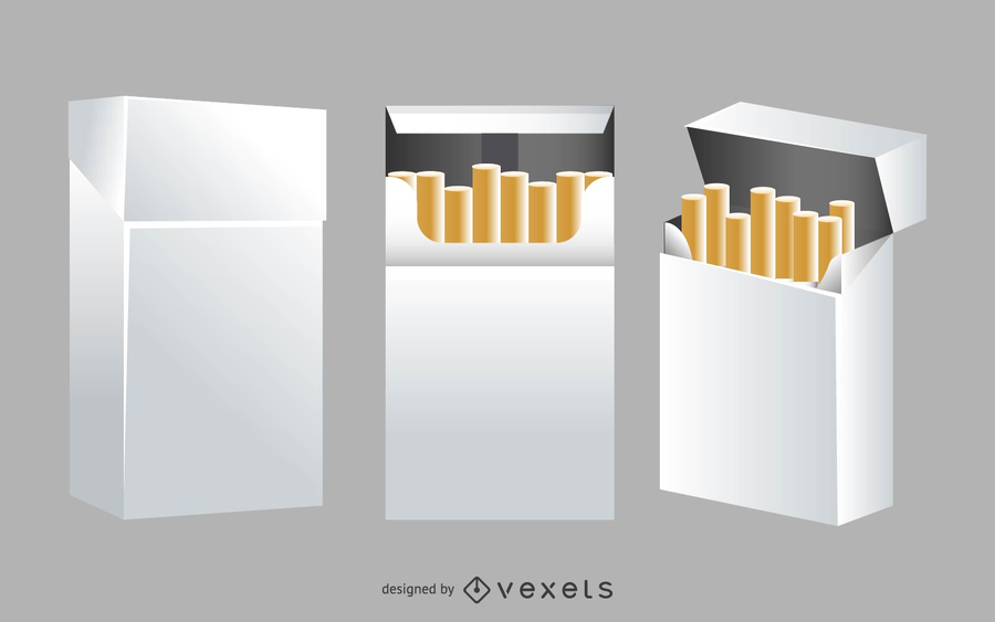 Maqueta de caja de cigarrillos