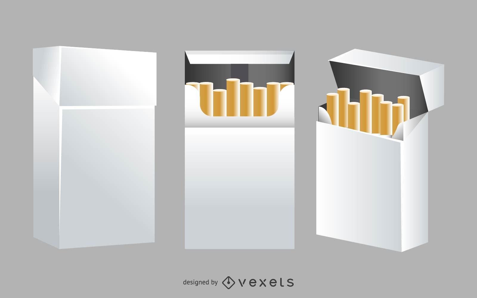 Cigarette Box Mockup Vector Download