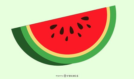 sliced watermelon illustration design