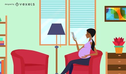 Mãe grávida, ilustração