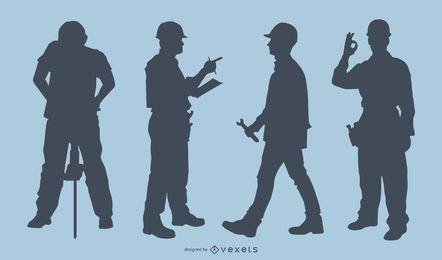 Vector de trabajadores en el trabajo