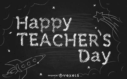 Happy teacher's day lettering design