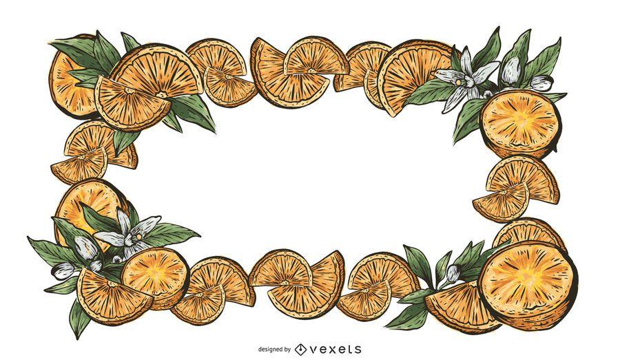 Vector De Frontera De 2 Frutas
