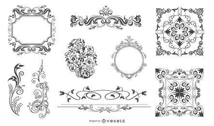 Vector de elementos de diseño ornamental