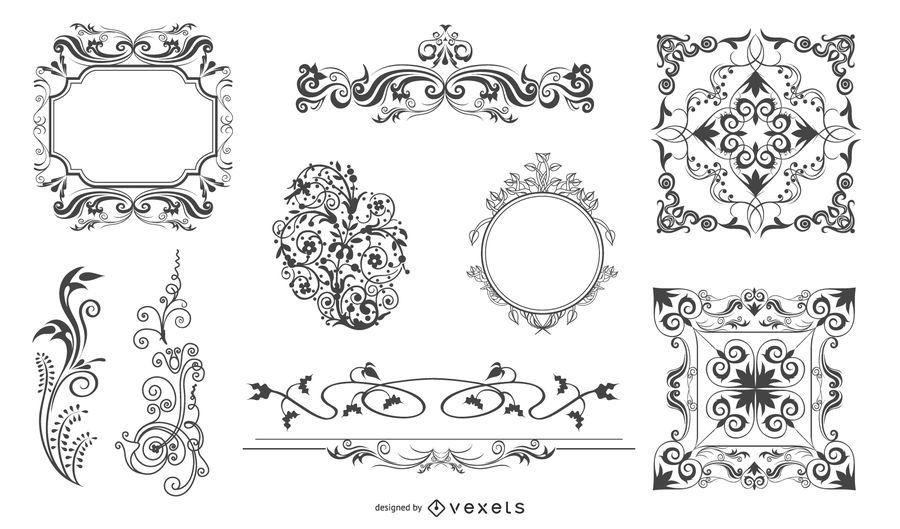 Vektor dekorative Gestaltungselemente