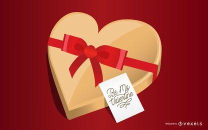 Caixa de chocolate para namorados