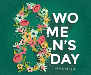 Dia das mulheres belo design