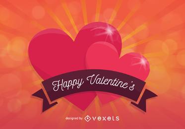 Vorzüglicher Valentinsgruß-Hintergrund 4