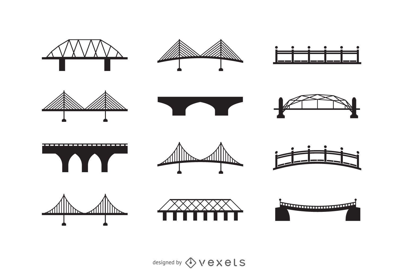 Conjunto de iconos de puente