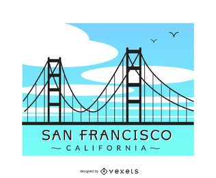 San Francisco bridge banner