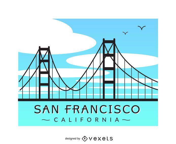 San Francisco Bridge Vector Download