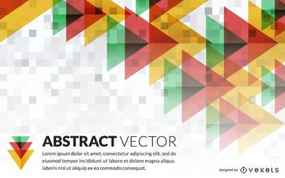 Abstract geometric banner mockup