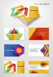 Conjunto de maquetas de tarjetas de visita