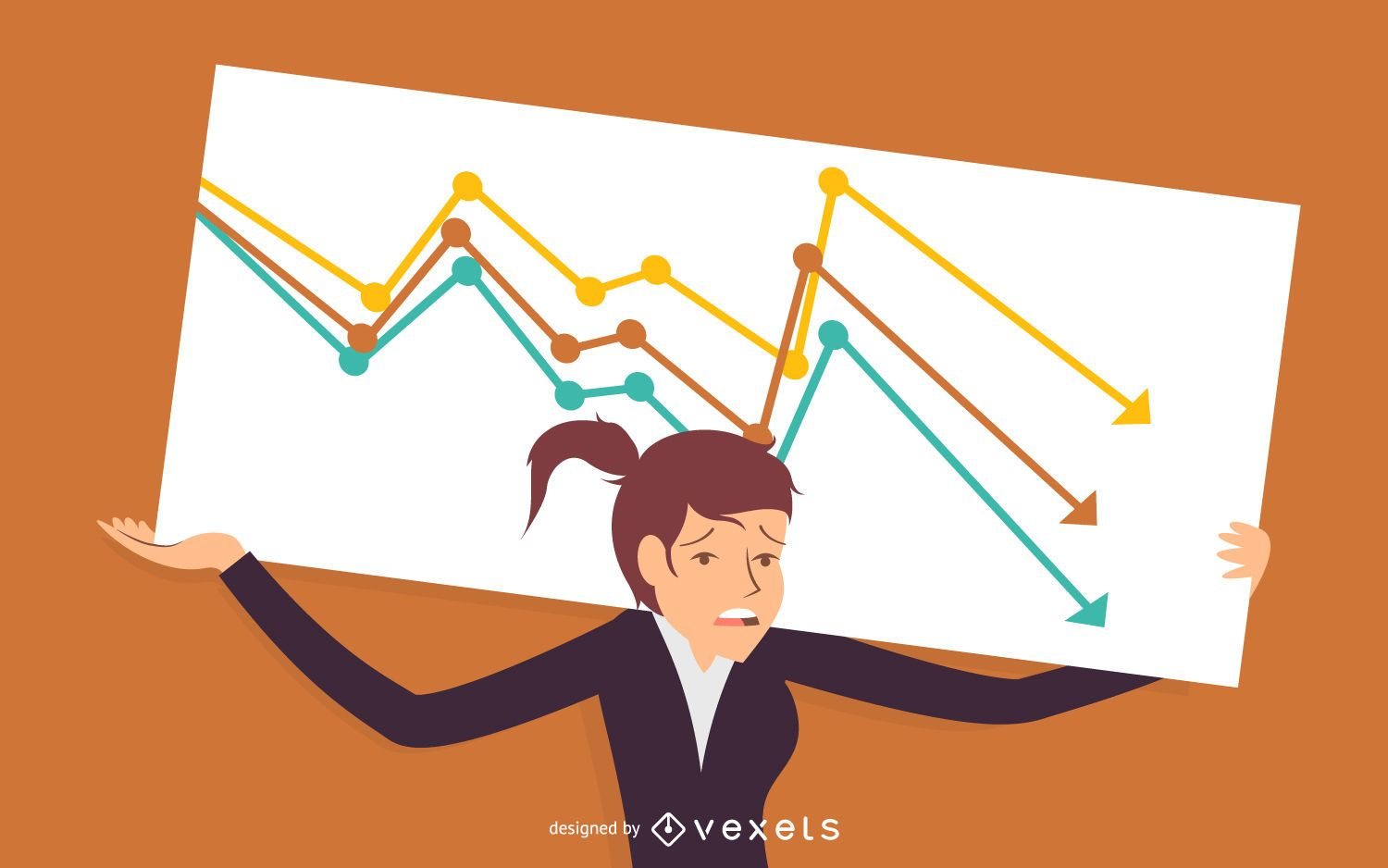 Business woman failure illustration - Vector download