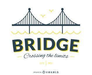 Hipster bridge poster