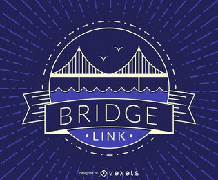 Hipster bridge badge