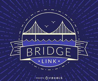Insignia de puente de hipster