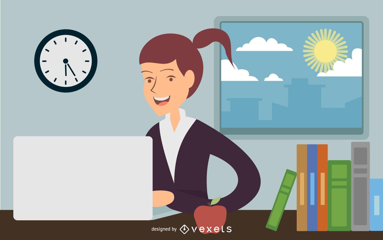 Mujer de negocios trabajar en oficina