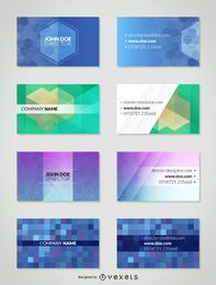 Polygonal business card template set