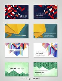 Geometric business card pack