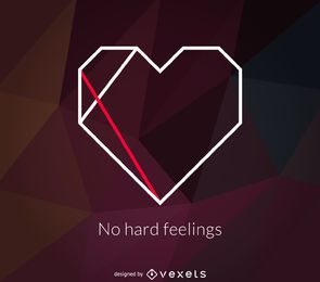 Polygonal heart logo