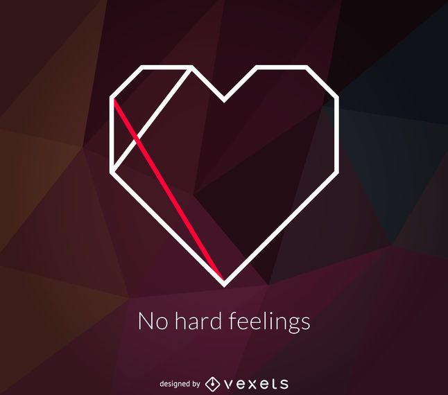 Logo poligonal del corazon