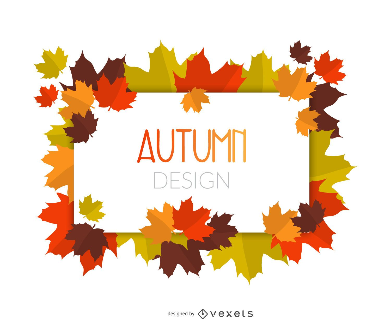 Oto o deja el marco descargar vector - Descargar autumn leaves ...