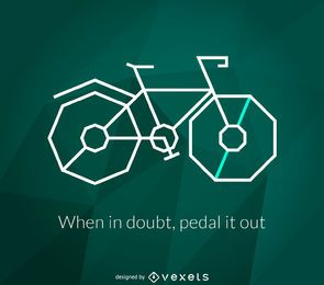 bicicleta impressão poligonal
