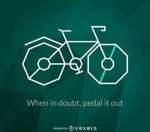 Cartaz de bicicleta poligonal