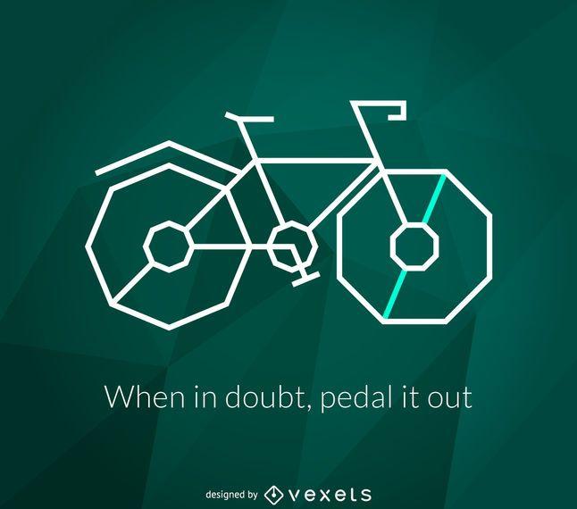 Polygonal bike poster
