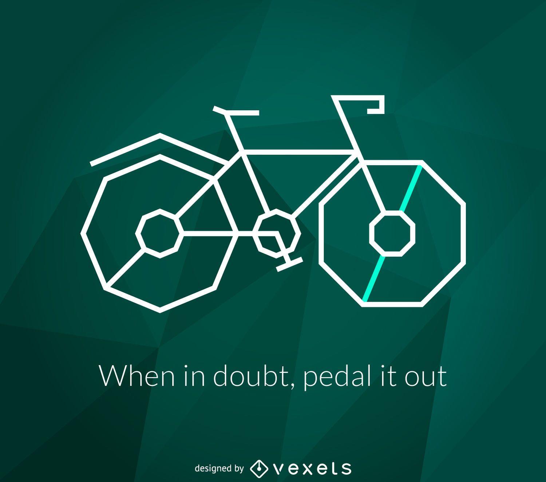 Cartel de bicicleta poligonal