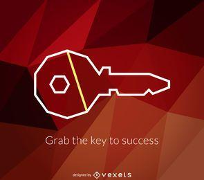 Logotipo de chave geométrica