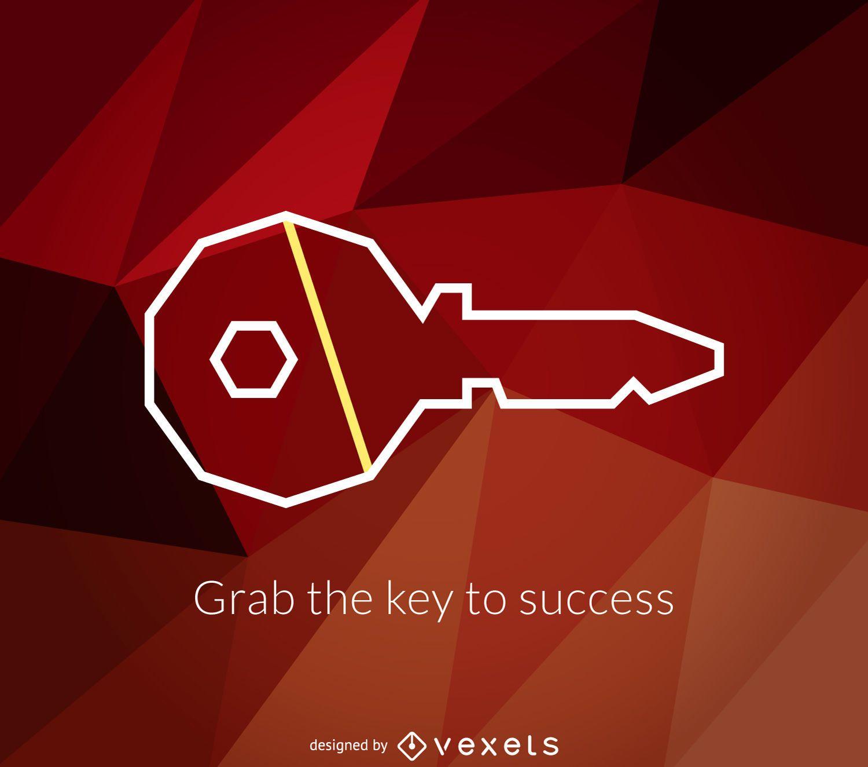 Geometric key logo