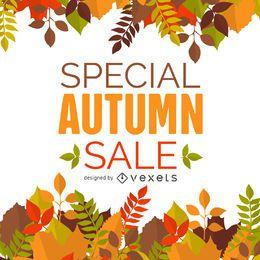 Banner de quadro de venda de outono