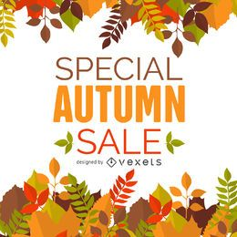 Banner de quadro de venda outono