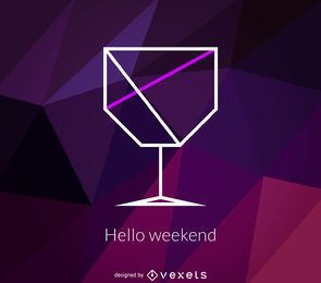 Polygonales Cocktail-Logo