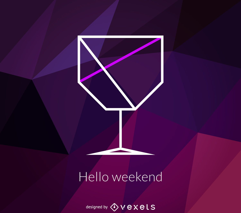 Polygonal cocktail logo