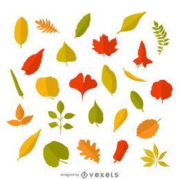 Hojas de otoño de la ilustración
