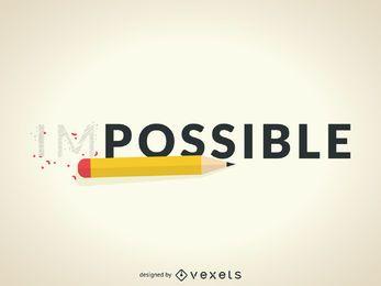 Impossível ao possível conceito