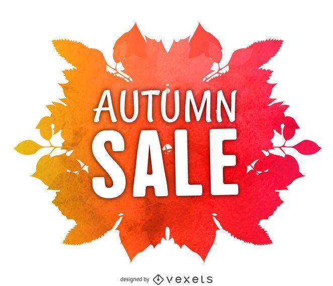 Watercolor autumn sale label