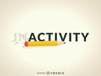Untätigkeit zum Aktivitätskonzept