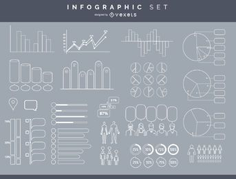 Conjunto de elementos infográfico