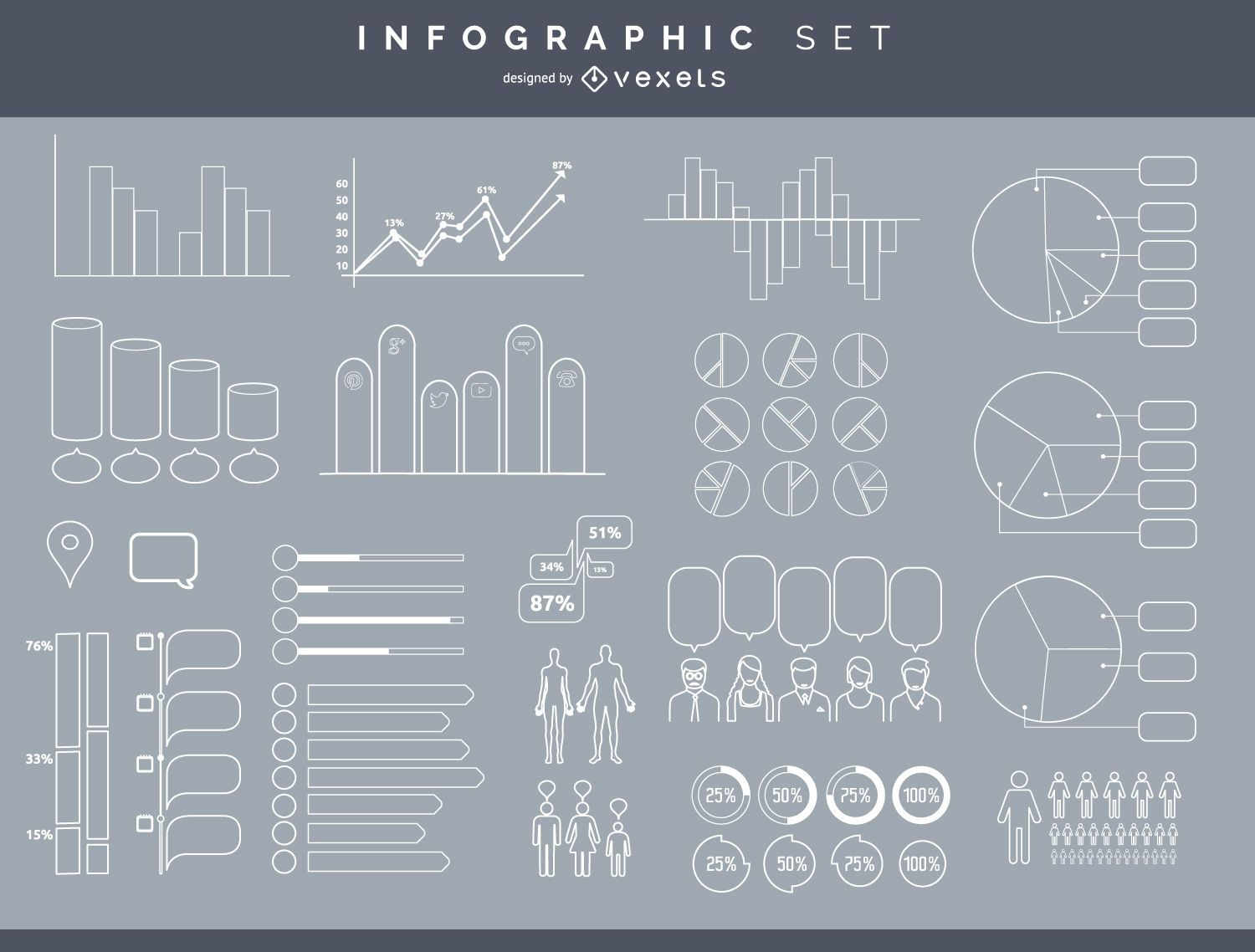 Infographic element set - Vector download