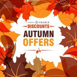 Marco de la venta del otoño